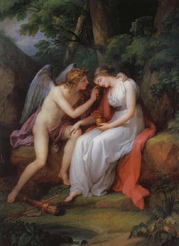 Angelika Kauffmann Amor und Psyche oil painting image