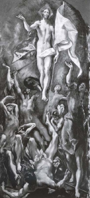El Greco The resurrection oil painting image
