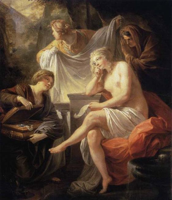 Friedrich Heinrich Fuger Bathsheba at the Bath oil painting image