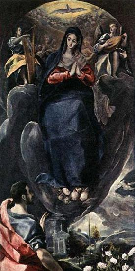 GRECO, El The Virgin of the Immaculate Conception and St John oil painting image