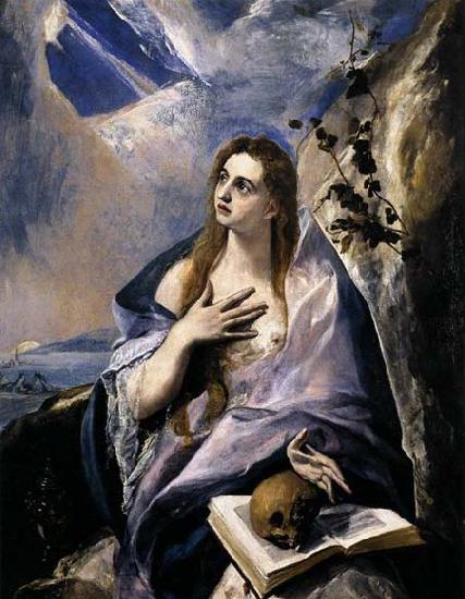 GRECO, El Mary Magdalen in Penitence oil painting image