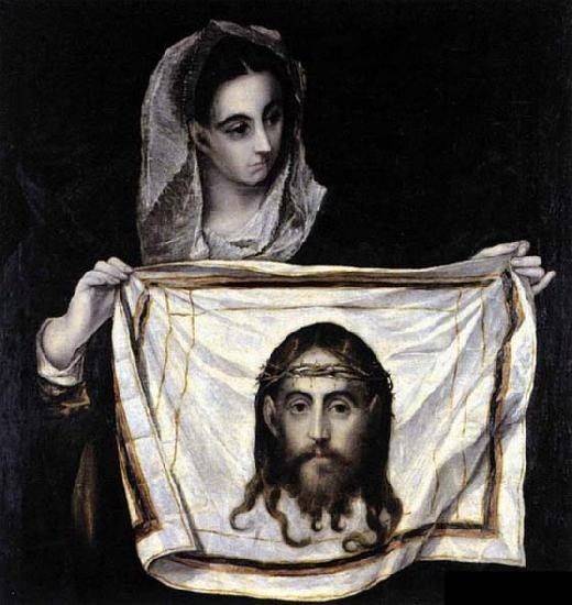 GRECO, El St Veronica Holding the Veil oil painting image