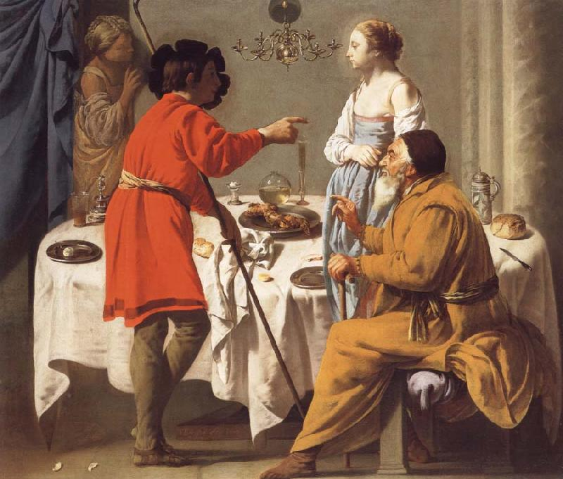 Hendrick the Brugghen Jacob Reproaching Laban for giving Him Leah in Place of Rachel oil painting picture