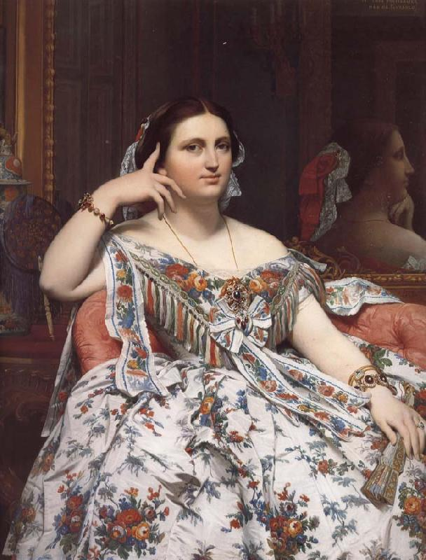 Jean-Auguste Dominique Ingres Madame Moitessier oil painting picture