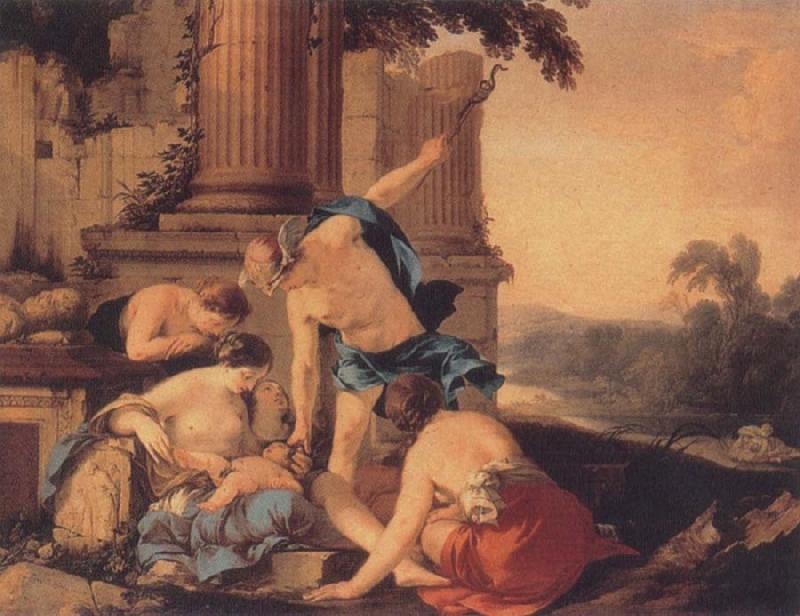 Laurent de la Hyre Mercury Takes Bacchus to be Brought Up by Nymphs oil painting image