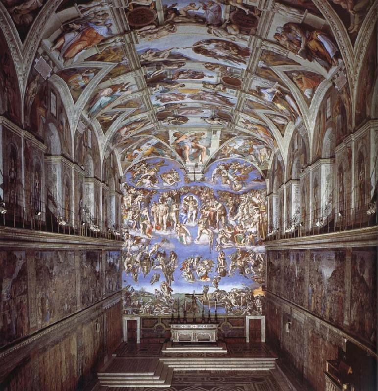 Michelangelo Buonarroti Sixtijnse chapel with the ceiling painting oil painting image