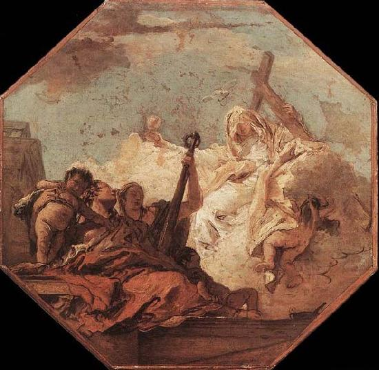 Giovanni Battista Tiepolo The Theological Virtues oil painting image