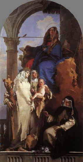 Giovanni Battista Tiepolo The Virgin Appearing to Dominican Saints oil painting image