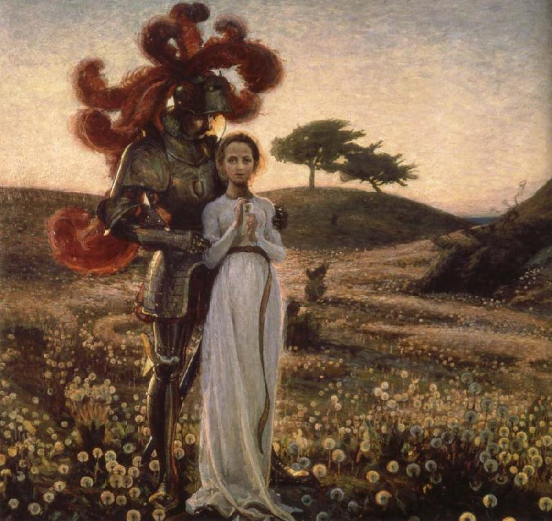 Richard Bergh Knight and The virgin oil painting image