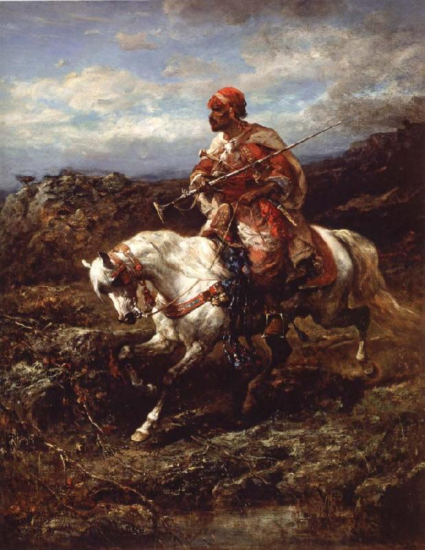 Adolf Schreyer Arab Horseemen on the March oil painting image