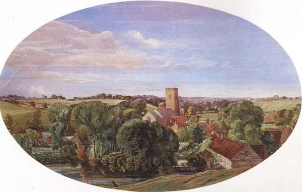 Anthony Frederick Augustus Sandys A Panoramic View of Hunworth (mk46) oil painting image