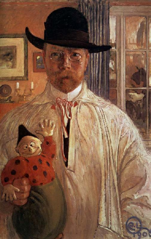 Carl Olaf Larsson Self-Portrait oil painting image