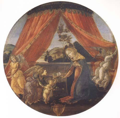 Sandro Botticelli Madonna and Child with three Angels or Madonna of the Pavilion oil painting image