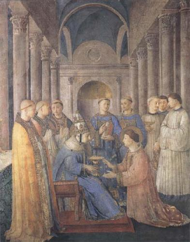 Sandro Botticelli Fra Angelico,Ordination of St Lawrence oil painting image