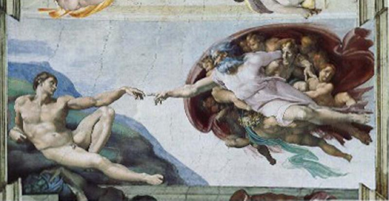 CERQUOZZI, Michelangelo The creation of Adam oil painting image