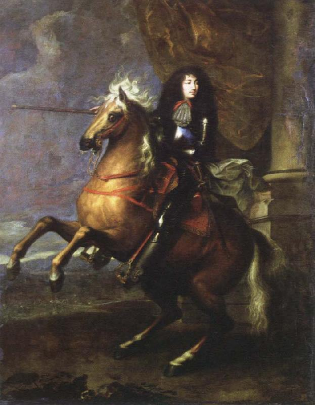 Charles Lebrun equestrian portrait of louis xlv oil painting image
