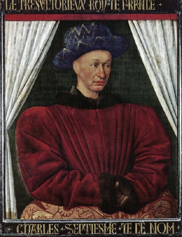 Jean Fouquet Portrait of Charles VII oil painting image