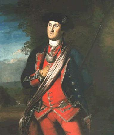 Charles Willson Peale George Washington in uniform, as colonel of the First Virginia Regiment oil painting image