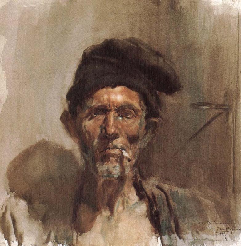 Smoking old man joaquin sorolla abra las reproducciones de - Galeria de arte sorolla ...