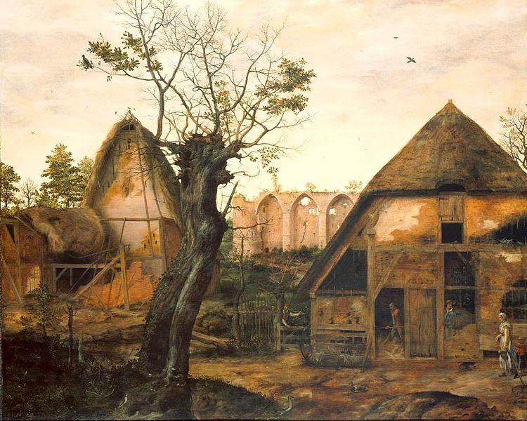 Cornelis van Dalem Landscape with Farm oil painting image