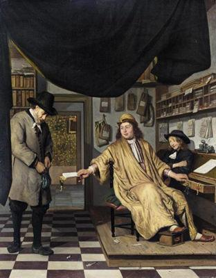 BERCKHEYDE, Job Adriaensz A Notary in His Office oil painting image