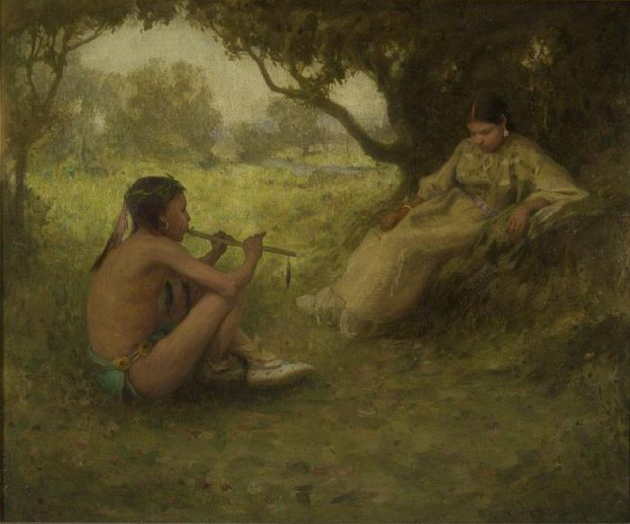 Eanger Irving Couse Lovers oil painting image