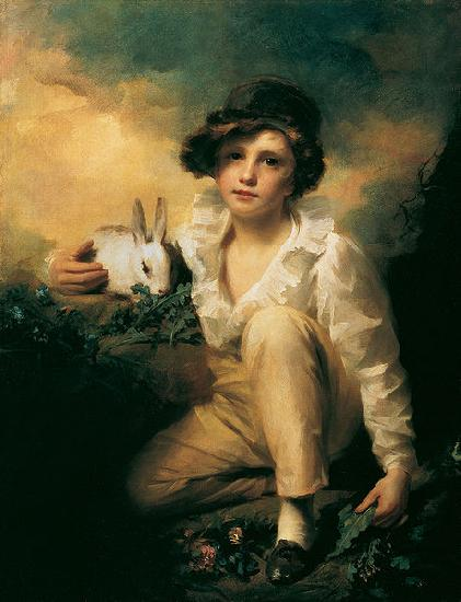 Sir Henry Raeburn Boy and Rabbit oil painting image