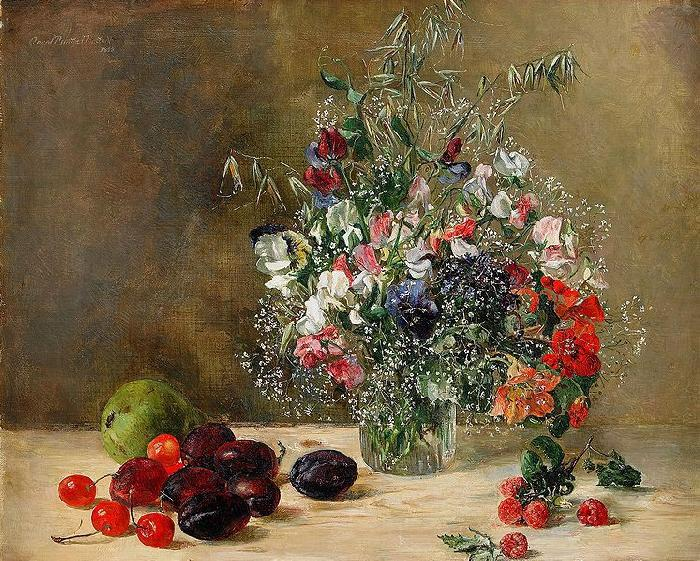 Anna Munthe-Norstedt Still Life with Flowers and Fruits oil painting image