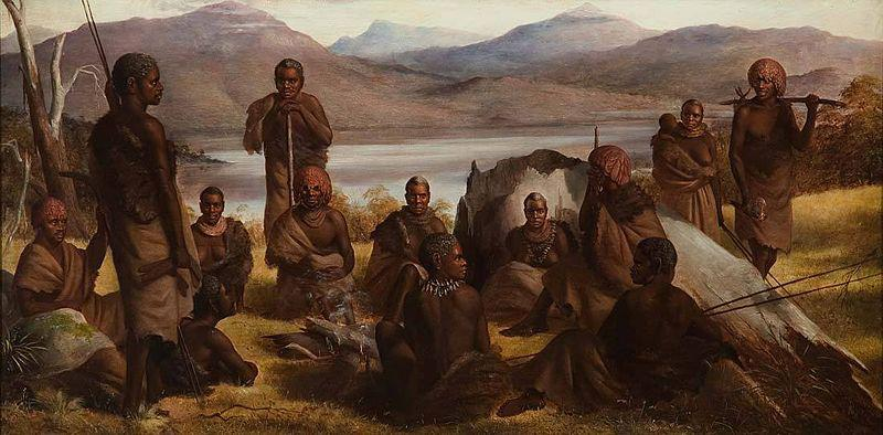 Robert Dowling Group of Natives of Tasmania oil painting image