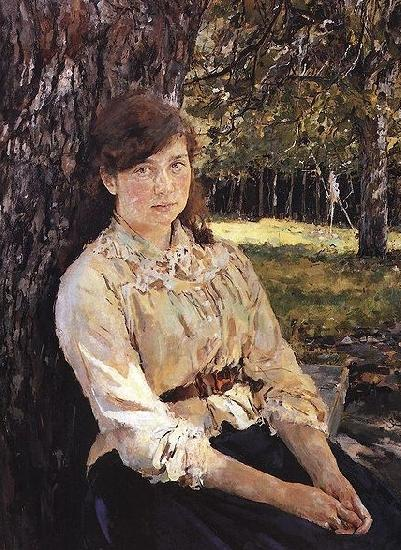 Valentin Serov Girl in the Sunlight Portrait of Maria Simonovich oil painting image