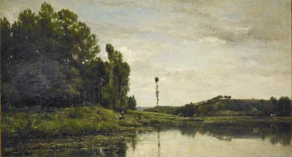 Charles Francois Daubigny Banks of the Oise oil painting image