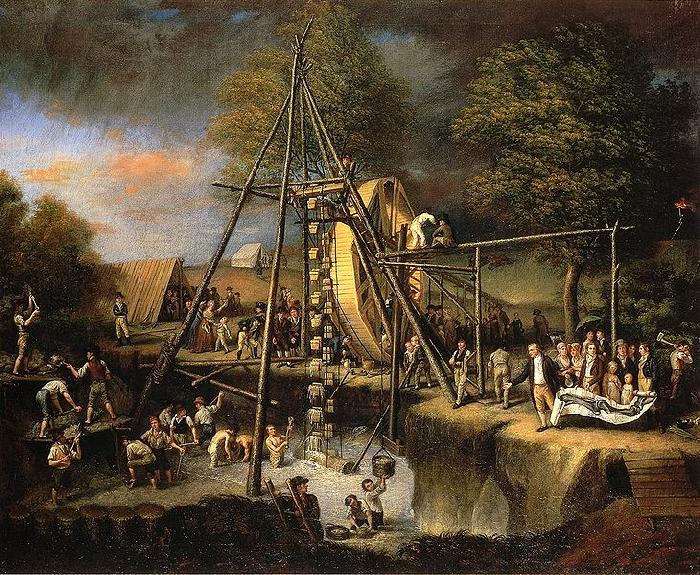 Charles Willson Peale Exhuming the First American Mastodon oil painting image