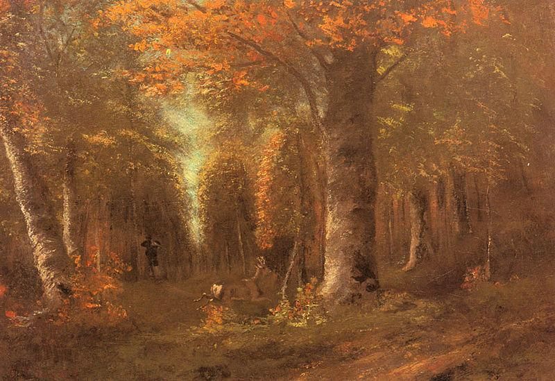 Courbet, Gustave Forest in Autumn oil painting image