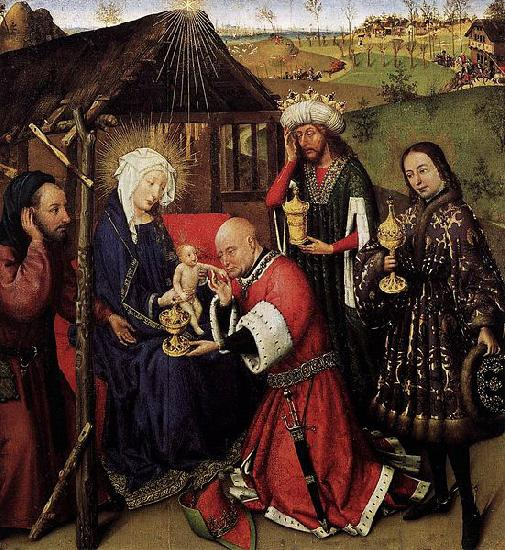 DARET, Jacques Altarpiece of the Virgin oil painting image