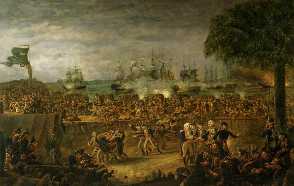 John Blake White The Battle of Fort Moultrie oil painting picture