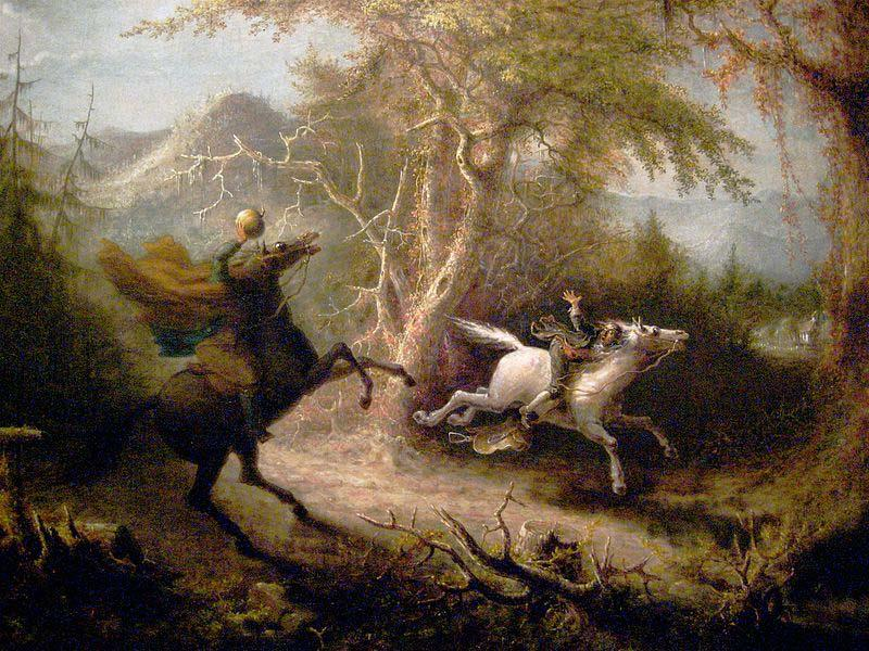 John Quidor The Headless Horseman Pursuing Ichabod Crane oil painting image