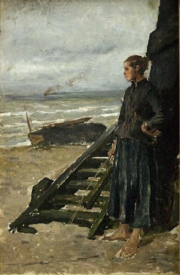 Meunier, Constantin Fishermans Daughter at Nieuwpoort oil painting picture