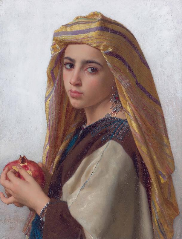 William-Adolphe Bouguereau Girl with a pomegranate oil painting image