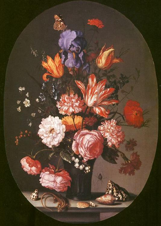AST, Balthasar van der Flowers in a Glass Vase oil painting image