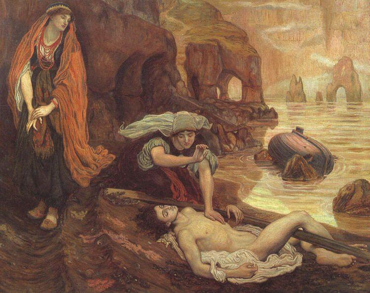 Brown, Ford Madox The Finding of Don Juan by Haidee oil painting image