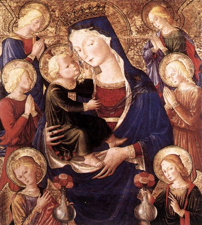 CAPORALI, Bartolomeo Virgin and Child with Angels f oil painting image