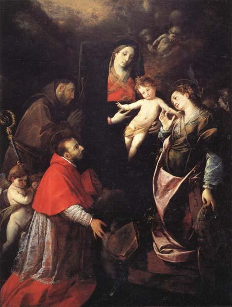 Cerano Madonna and Child with SS.Francis,Charles,and Catherine of Alexandria oil painting image