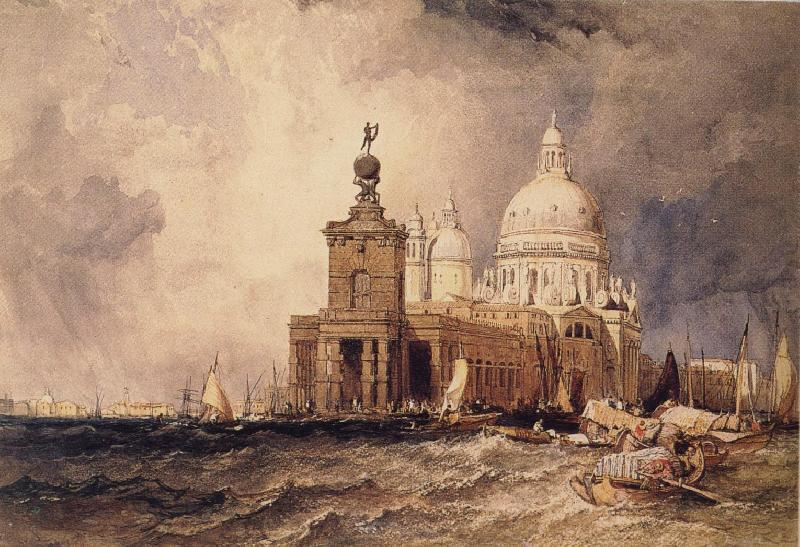 Clarkson Frederick Stanfield Venice:The Dogana and the Salute oil painting image