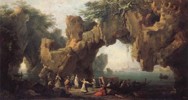Claude-joseph Vernet View Outside Sorrento oil painting image