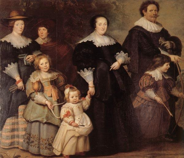 Cornelis de Vos Family Portrait oil painting image