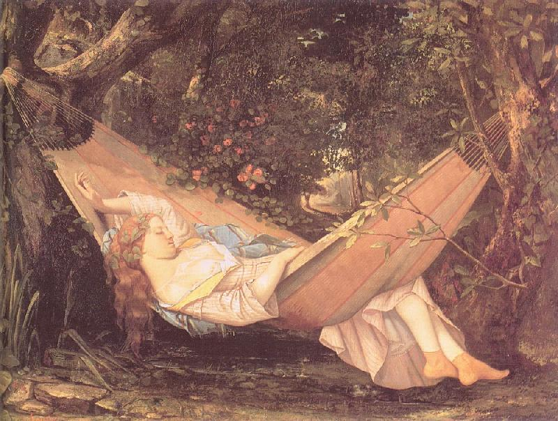 Courbet, Gustave The Hammock oil painting image