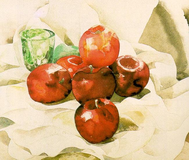 Demuth, Charles Still Life with Apples and a Green Glass oil painting image
