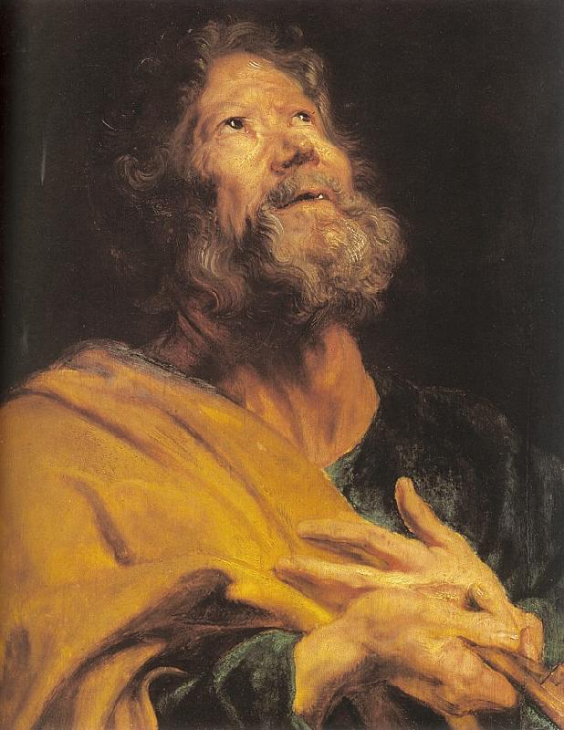 Dyck, Anthony van The Penitent Apostle Peter oil painting image