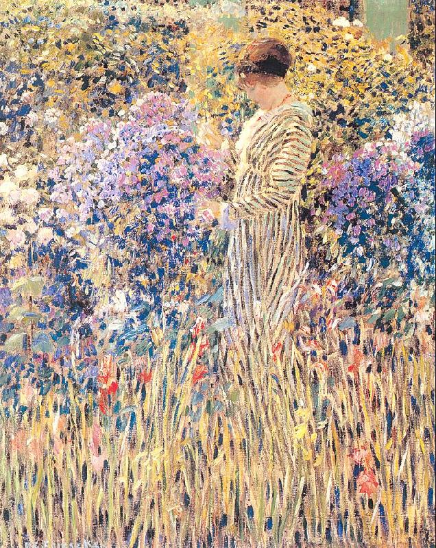 Frieseke, Frederick Carl Lady in a Garden oil painting image
