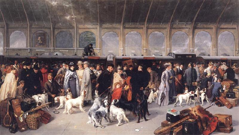George Earle Going North,King's Cross Station oil painting image